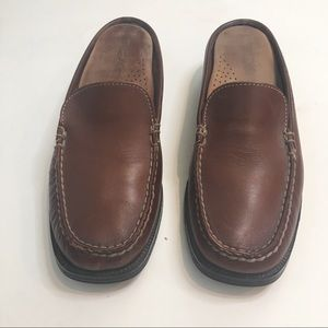 Dexter USA Slip On Shoes Mules Clogs Brown Leather